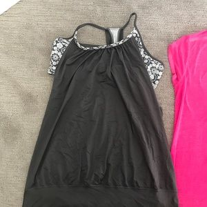 Tops - Athletic tank with built in sports bra